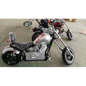Электромотоцикл GreenCamel Chopper C100, 60V 1000W R12 Серебристый