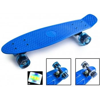 "Пенни борд Zippy Board penny 22"" Blue - Синий cо светящимися колесами"