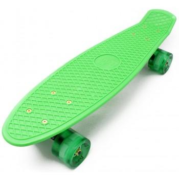 """Пенни борд Zippy Board 22"""" LED Колеса - PRO Зеленый"""