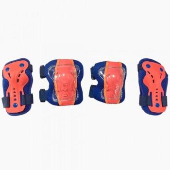 Набор защиты Tech Team Safety line 300, цвет сине-коралловый (размеры S, M, L)